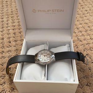 Philip stein women's classic round mini watch